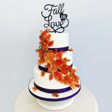 Свадебный торт на осеннюю тематику