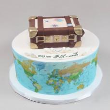 Свадебный торт на тему путешествия