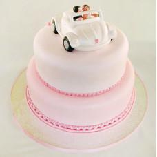 Свадебный торт путешествие на кабриолете