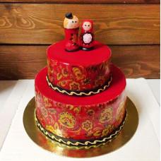 Свадебный торт с матрешками