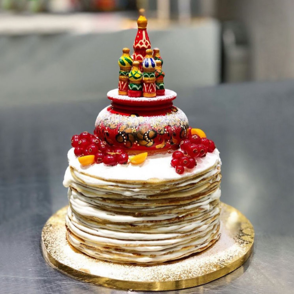 Свадебный торт в славянском стиле