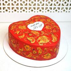 Торт сердце в русском стиле