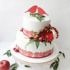 Торт на свадьбу в народном стиле