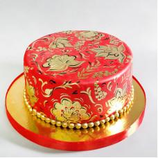 Свадебный торт Хохлома