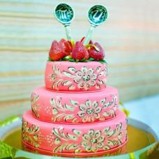 Свадебный торт «В русско-народном стиле»