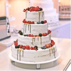 Голый торт для свадьбы Rustic