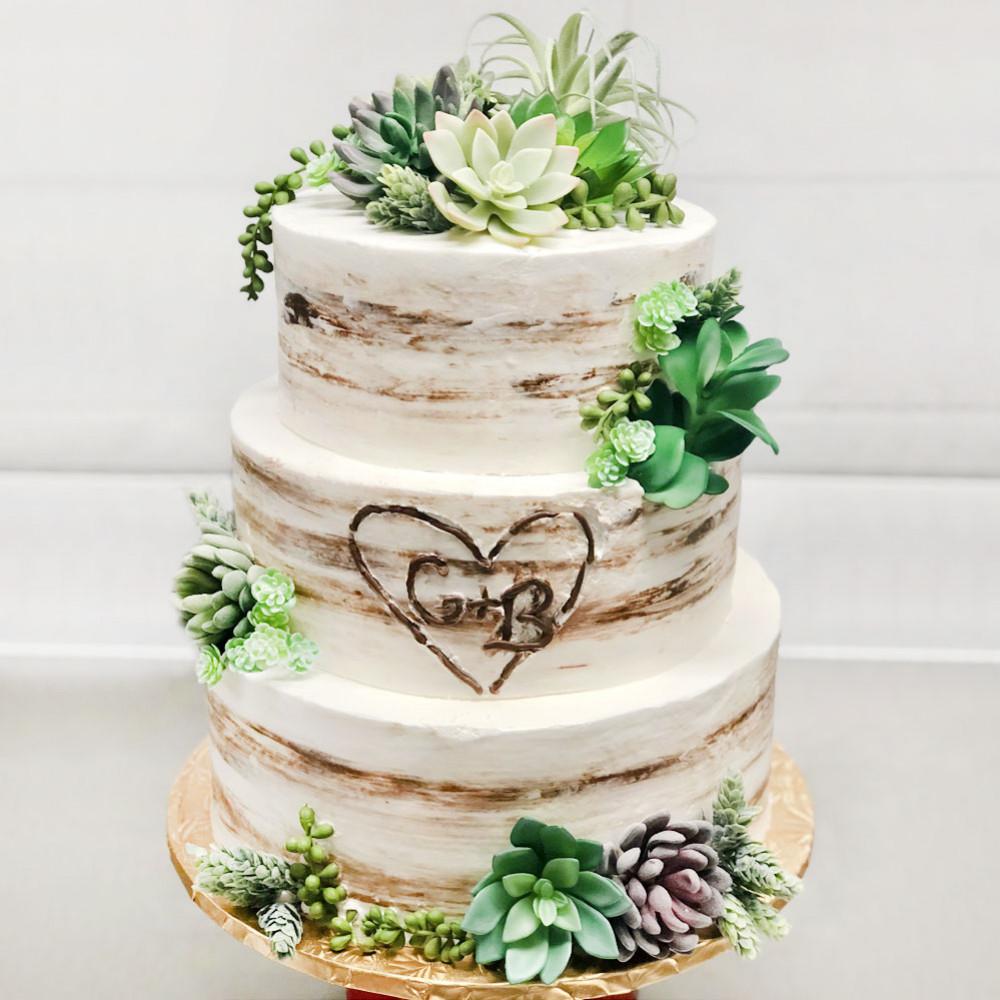 Свадебный торт в эко-стиле