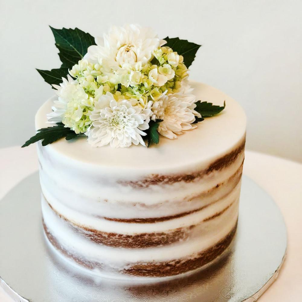 Деревенский свадебный торт