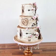 Свадебный торт в виде березовых пеньков