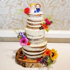 Рустикальный свадебный торт