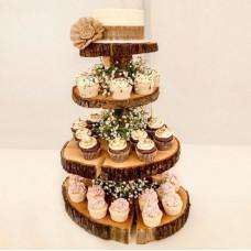 Порционный свадебный торт в стиле рустик