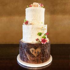 Торт на свадьбу в стиле эко