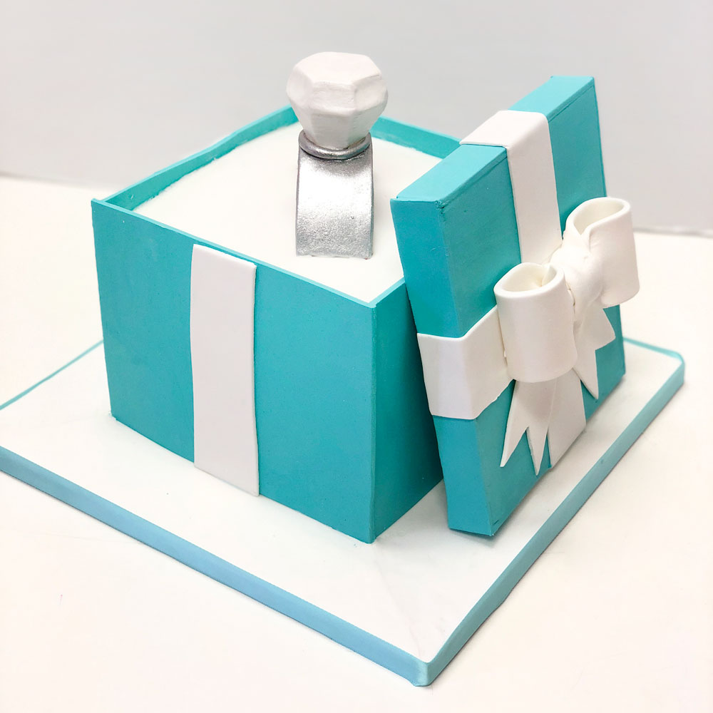 Свадебный торт Коробка Тиффани