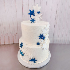 Торт для зимней свадьбы