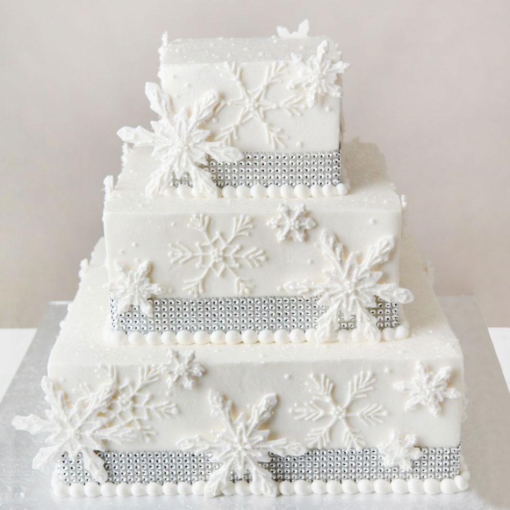 Свадебный торт в новогоднем стиле