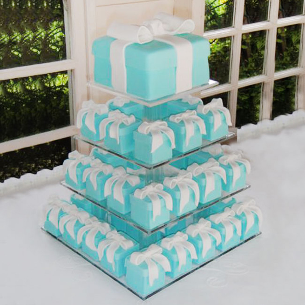 Торт из капкейков на тему Tiffany