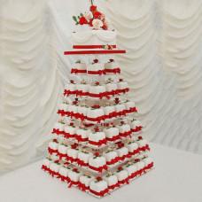 Торт Пирамида из капкейков