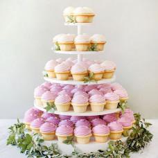 Башня из капкейков на свадьбу