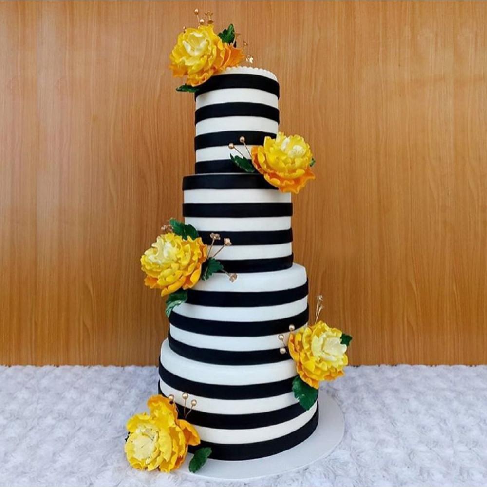 Шикарный торт на эксклюзивную свадьбу