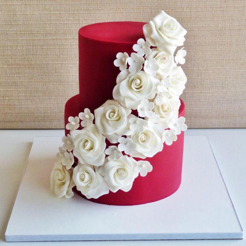 Бархатный торт на свадьбу