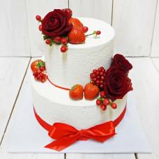 Велюровый торт на свадьбу
