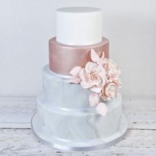 Роскошный торт на большую свадьбу