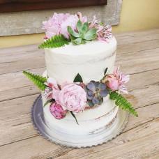Голый торт на летнюю свадьбу