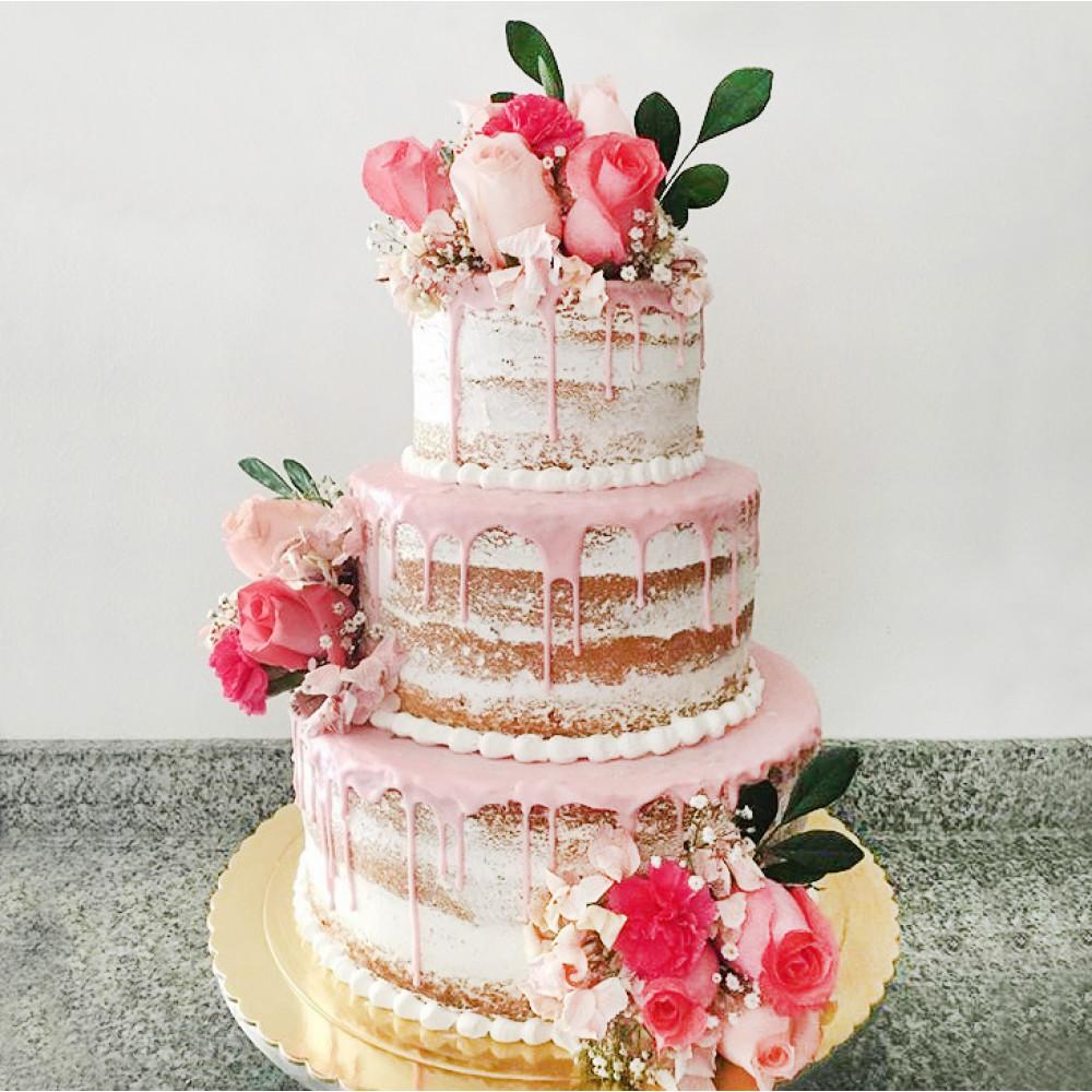 Открытый торт на Эко-свадьбу
