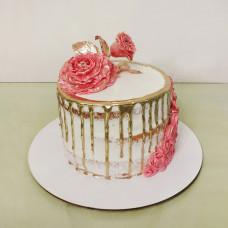 Голый свадебный торт на праздник в стиле рустик