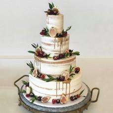 Открытый многоярусный свадебный торт