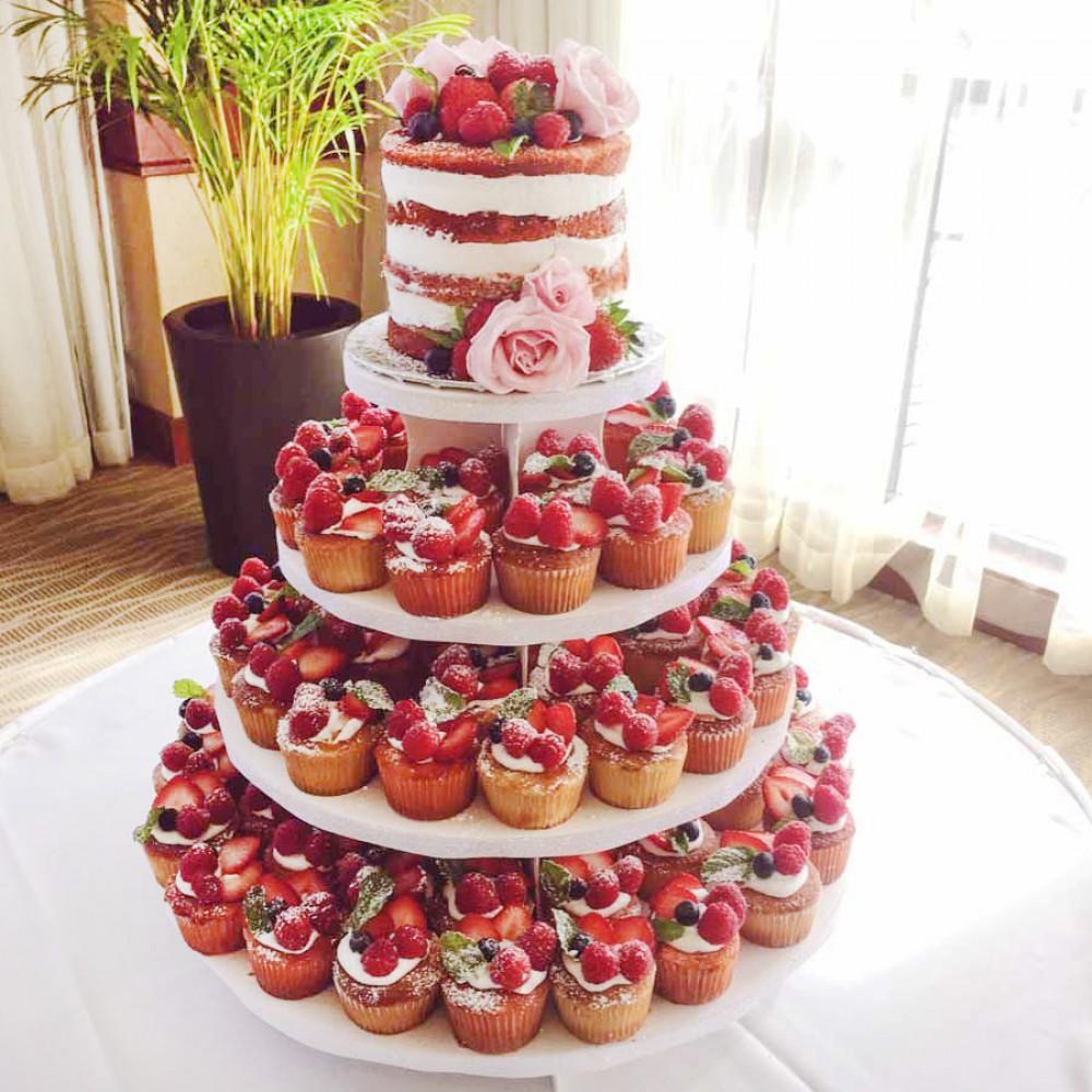 Свадебный порционный «Голый торт»