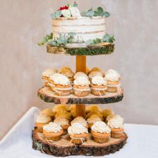 Открытый свадебный торт из капкейков