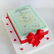 Торт свидетельство о браке