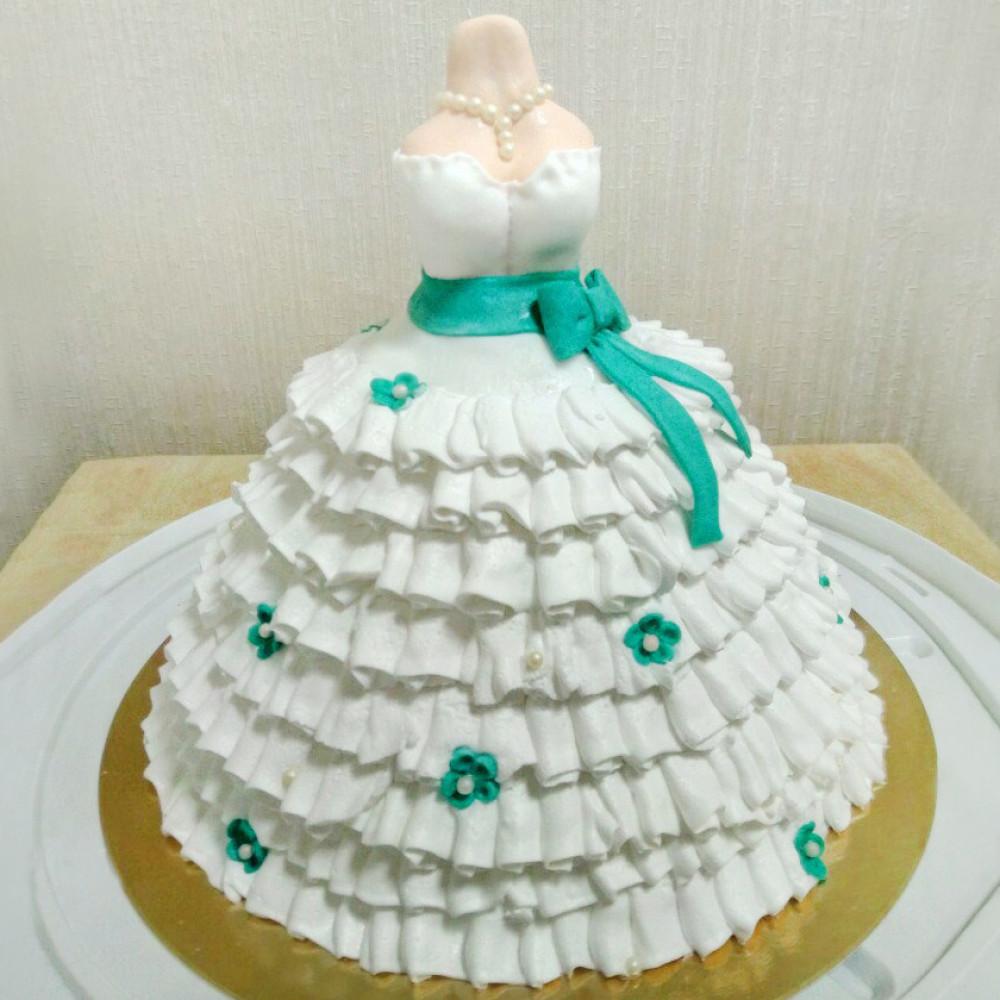 Свадебное платье торт