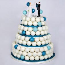 Свадебный торт из кейк боллов