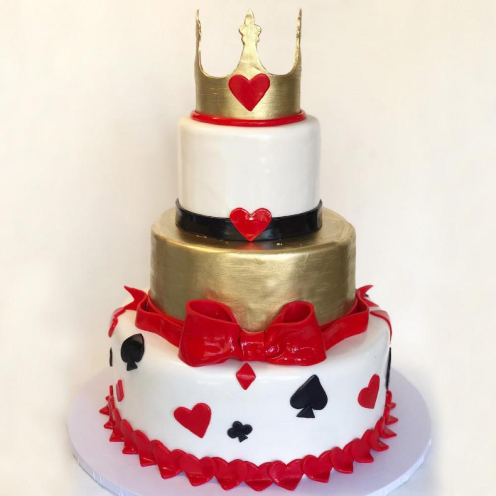 Прикольный свадебный торт