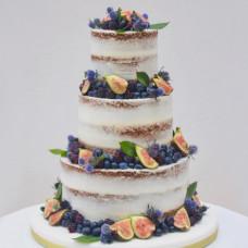 Необычный свадебный торт без мастики