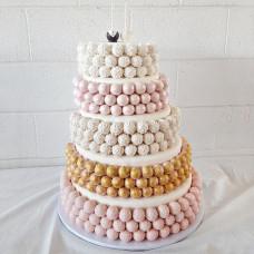 Свадебный торт из кейк-попсов