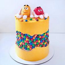 Оригинальный свадебный торт с M&M's