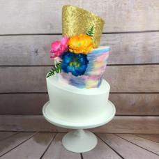 Наклоненный торт на свадьбу