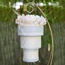 Свадебный подвесной торт в стиле люстры