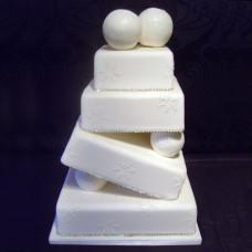 Качающийся торт на зимнюю свадьбу