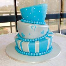 Свадебный торт в падающем стиле