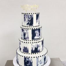 Свадебный торт с принтами