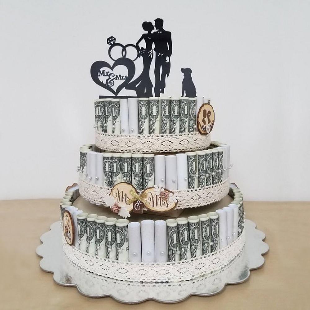 Свадебный торт с пищевой фотопечатью