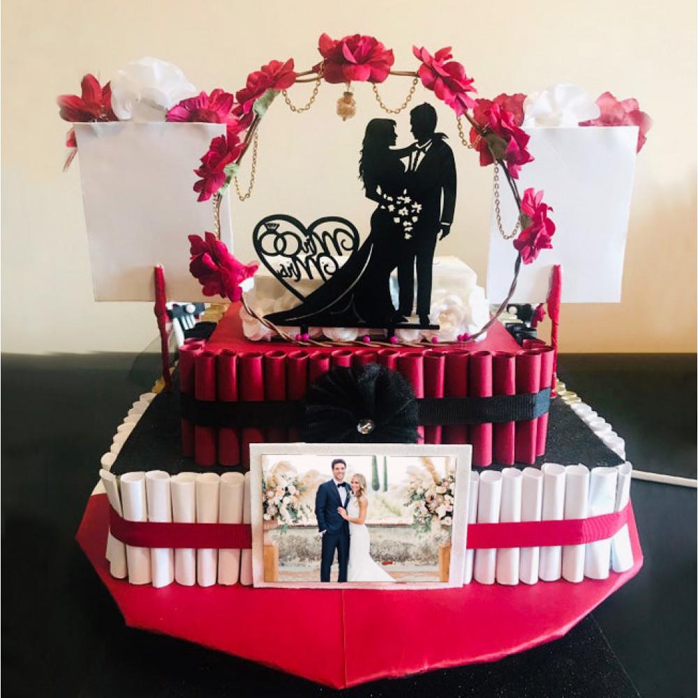 Свадебный торт со съедобной фотопечатью